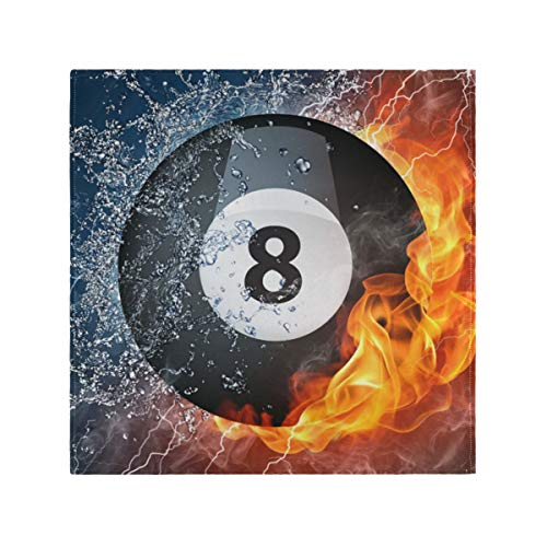 "TSWEETHOME Washable Polyester Dinner Napkins with 8 Ball Pool Best | Absorbent & Soft | Oversized 20""x20"" 