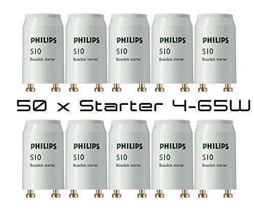 Philips Starter S10 4-65 W per tubi fluorescenti, come ad es. TL-D, 50 pezzi, G13