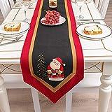 Gogh Red Christmas Table Runner per Decorare la tavola da Pranzo a casa, Copertura da Tavolo Grande Party tovaglia decori decori Babbo Natale Ornamenti Perfetti Regali Perfetti