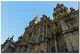 LFNSTXT Rompecabezas de Santiago de Compostela para adultos y niños 1000 piezas de madera juego de rompecabezas para regalos decoración del hogar recuerdos especiales de viaje