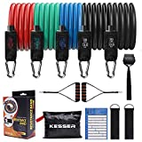 KESSER Resistance Bands Set Exercise Bands with Door Anchor Handles Legs Ankle Straps for Resistance...