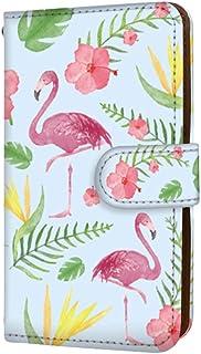 anve Android One X2 国内生産 カード スマホケース 手帳型 HTC エイチティーシー アンドロイド ワン エックスツー 【C.ブルー】 フラミンゴ ボタニカル best_vc-152_sp