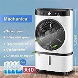 El tanque portátil de 220V agua en el hogar móvil del acondicionador de aire acondicionado portátil ventilador del humidificador refrigerador temporizador + regalo bolsa de hielo durante 10 doméstico