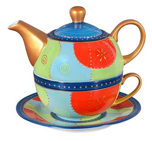 Aricola Tea for One – Set da tè Romy con 400 ml in porcellana dipinta a mano per una persona.