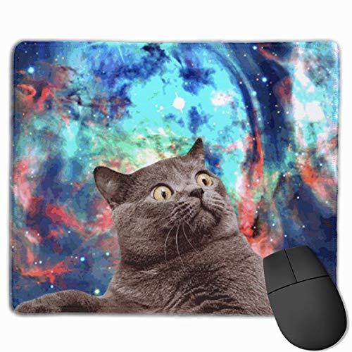 GIF Cat rutschfeste Gummimaus Mausmatte Mauspad für Desktops, Computer, PC und Laptops 30x25 cm