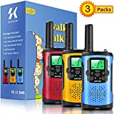 Supker Walkie Talkies for Kids 3Pack, 22 Channels 2 Way Radio Toy , Kids Talks Toy for 3-12 Year Old Boys Girls Gift, 3 Miles Long Range for Outdoor Camping Game