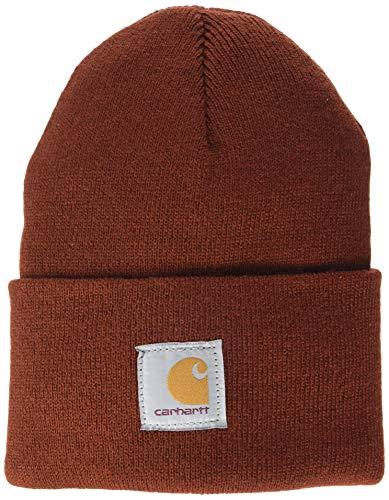 Carhartt Unisex-Adult Watch Hat Beanie Hat, Rot (Iron Ore), Einheitsgröße