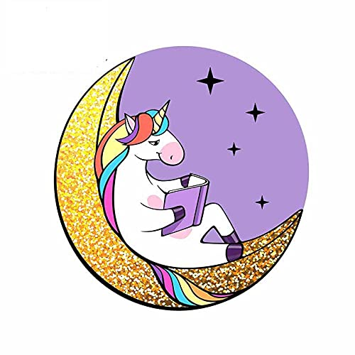 A/X 13 cm 12,7 cm para el Libro de Lectura Fantasy Unicorn en el Coche de la Ventana del Parachoques de la Luna