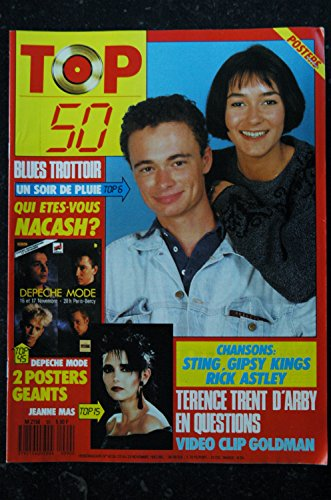 TOP 50 090 1987 11 BLUES TROTTOIR TERENCE TRENT D\'ARBY STING + 2 POSTERS DEPECHE MODE JEANNE MAS