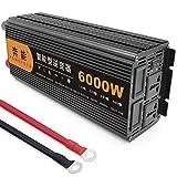 Power Inverter Onda Sinusoidale Pura 3200W 4000W 5000W 6000W 8000W 9000W 12000W 15000W Trasformatore Potenza Convertitore DC 12V/24V in AC 220V 230V Invertitore Tensione,Onda Pura Inverter,6000W-24V