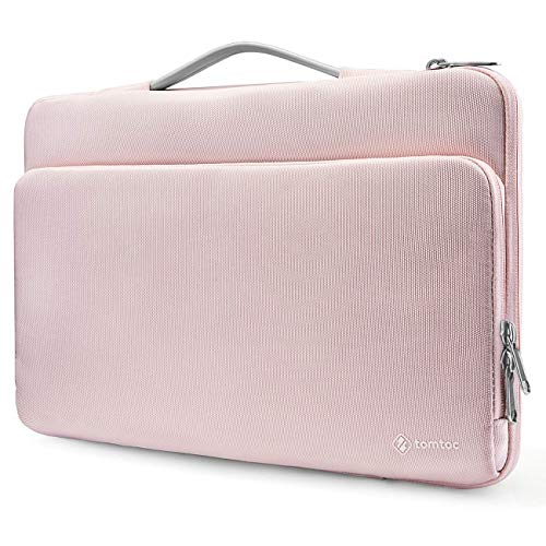 "tomtoc Laptop Aktentasche Tasche geeignet für Neu MacBook Pro 15"" 2016-2019 A1990 A1707, 15"" Surface Laptop 3, HP/Acer Chromebook 14"", Thinkpad 14"", Notebook Tragetasche Handtasche Schutzhülle Rosa"
