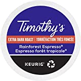 Timothy`s Rainforest Espresso Single Serve Keurig Certified Recyclable K-Cup pods for Keurig brewers