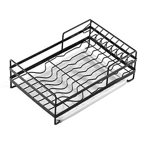 Égouttoir à vaisselle Acier inoxydable Rack égouttoir de cuisine en acier inoxydable 304, étagère de rangement, grille de séchage de la vaisselle, étagère de cuisine avec plateau (39 × 25 × 13,5 cm, n