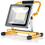 Brandson - 30W LED Projecteur de chantier - éclairage de travail - Work Lamp Floodlight - pliable - 2500 lumens - pour l'usage en intérieur et extérieur - classe d'efficacité énergétique A