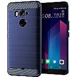 LiXiongBao Case for HTC U11+ Plus Navy Blue Soft TPU
