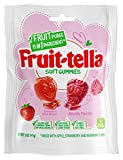Fruit-tella Soft Gummy Candy, Strawberry and Raspberry Fruit Flavors, 5 oz (Pack Of 12); Peanut & Tree Nut Free, No High-Fructose Corn Syrup, Naturally Flavored