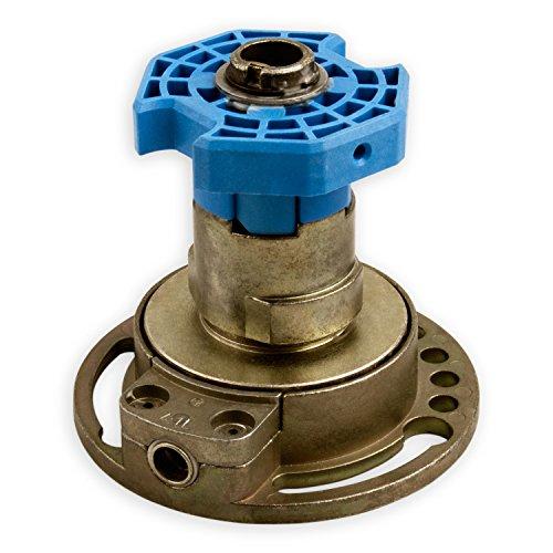 DIWARO® Kegelradgetriebe K035 | Untersetzung 4:1 links | Antrieb 6mm Innenvierkant (durchsteckbar) | für SW 60 achtkant Stahlwelle | Kurbelgetriebe, Rolladengetriebe