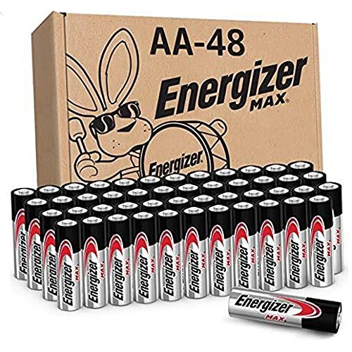 AA Batteries (48 Count), Double A MAX Alkaline Battery (Packaging May Vary) New Version (48 Count)