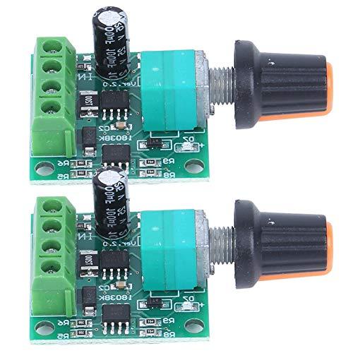 LDDLDG 2 Uds 1.8V 3V 5V 6V 12V2A PWM DC Controlador De Velocidad del Motor Interruptor De Control De Bajo Voltaje 1803BK Componentes Eléctricos