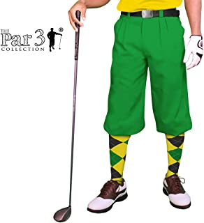 Golf Knickers Lime Mens 'Par 3' - Microfiber