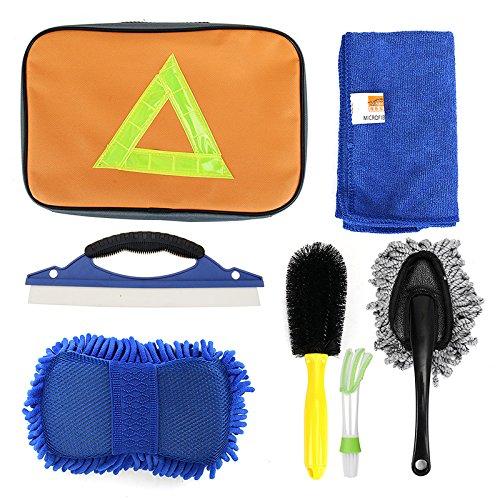 MXBIN CHONGTENG Reifenbürste Outlet Reinigungsbürsten Small Wax Drag Handtuch Car Wash Cleaning Kit Sieben Sätze Autopflege und Wartung
