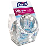 PURELL Advanced Hand Sanitizer, Refreshing Gel, Clean Scent, 1 fl oz Flip-Cap Bottle with Display Bowl (Pack of 36) - 3901-36-BWL