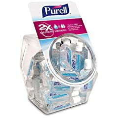 Show you care about the well-being of your team and visitors in the office and on-the-go Place PURELL hand sanitizer at desks, in common areas, and restrooms Perfect for frequent use. Mild formula with 4 moisturizers is free of triclosan, parabens, p...