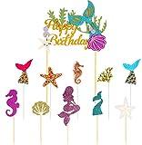 Decoración para Tarta, Cake Topper de Sirena,Cupcake Topper Set,de Sirena Cupcakes decoración, Toppe...