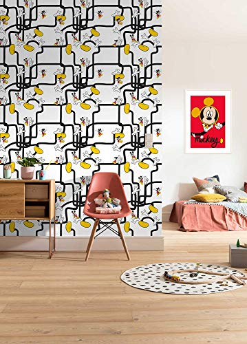 Komar Disney Vlies Fototapete Mickey Mouse - Foot Labyrinth | Tapete, Kinderzimmer, Babyzimmer, Dekoration | Größe 200 x 280 cm | DX4-006