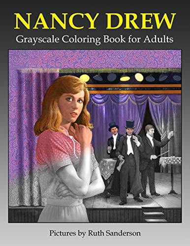 Nancy Drew Grayscale Coloring Book for Adults
