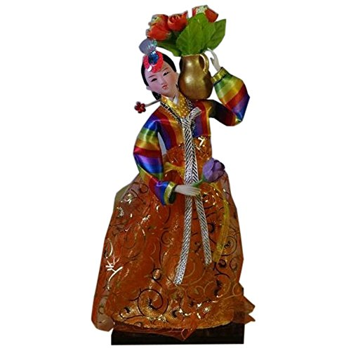 Korean Décoration Poupée Ameublement Articles Costume Ancient Oriental Doll, D