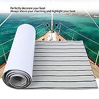 サーフボードヨット用ボートマリン用フロアカーペット、滑り止めおよび粘着性の厚さのウェットおよびドライボートフローリング(Gray black stripes)
