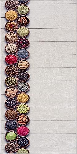 Siela Küchen Collection Waschbar In Der Waschmaschine, Teppich, Teppichläufer, Teppich Brücke Für Küche, Flur, Küchenteppich Waschbar, Modern Teppiche, Rutschfest Küchenläufer (Weiß-1830, 60 x 150 cm)