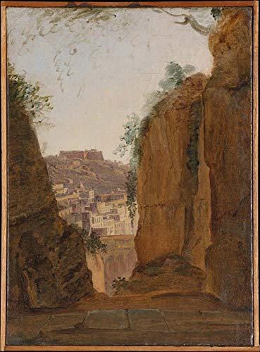 Franz Ludwig Catel - Tumba de Virgil, Nápoles (ca. 1818), arte vintage,...