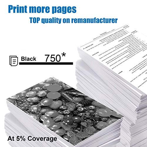 Inkwood 302 XL Schwarz Remanufactured Druckerpatronen Ersatz für HP 302XL Tintenpatronen für Officejet 3830 3831 3833 4650 4651 4652 4654 4655 4658 DeskJet 3630 3636 3639 Envy 4520 4521 4522 4523 4524