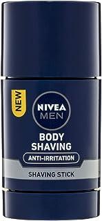 NIVEA MEN Body Shaving Anti-Irritation Body Stick (75ml), Men's Shaving Foam Stick, Pro-Vitamin B5 & Aloe Vera Skin Protection, Light Body Shave Foam Formula