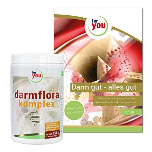 for you darmflora komplex inklusive informativem E-Book I Nahrungsergänzungsmittel mit Ballaststoffen I 150 g