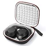 Hard Travel Case für Sony WH-XB900N, kabellose Kopfhörer mit Geräuschunterdrückung WH-1000XM3, Tragetasche - Schwarz (graues Futter)
