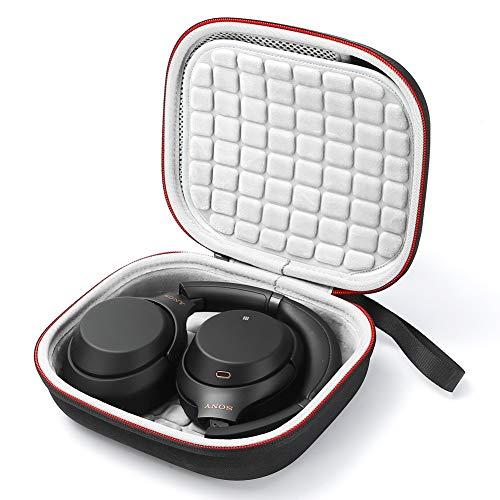 Étui de Voyage Rigide pour Sony WH-XB900N, WH-1000XM3 Écouteurs sans Fil à réduction de Bruit, Sac de Transport - Noir (Doublure Grise)