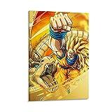 TRJHDF Goku Ssj3 Drachen Faust Poster Dekorative Malerei