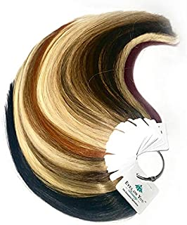 Eyes On You Beauty - Hair Extension Color Collection Ring - Highest Quality, 100% Human, Remy, European, Double-Drawn
