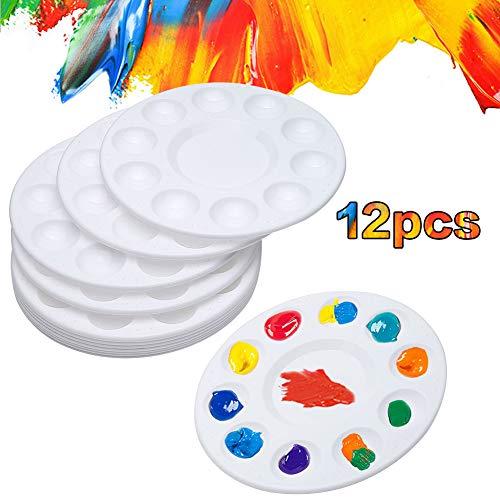 12 bandejas para palés de pintura con accesorios 12PCS Palette blanco