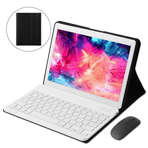KISEDAR Tableta de 10 Pulgadas, 4 GB RAM y 64 GB de Memoria, Compatible con Tableta Android 9.0 WiFi, ha Pasado la certificación Google GMS Dual SIM y TF, GPS (Blanco)