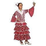 My Other Me Me-203845 Disfraz de flamenca Sevilla para niña, color rojo, 7-9 años (Viving Costumes 203845)