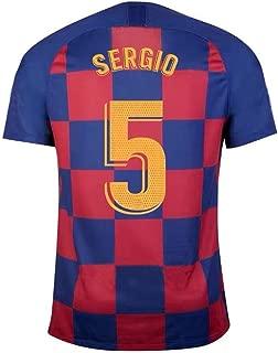 LDFN Sergio Busquets #5 Men's Soccer Jersey - Short Sleeve Sports Jersey T-Shirt Fan Shirt (Color : A, Size : XL)