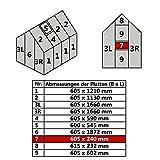 Jawoll Hohlkammerplatte für Gewächshaus Gartenhaus Treibhaus (Nr. 7 (605 x 240 mm))