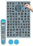 Skratkz Filmposter mit 100 Bucket-List-Filmen –