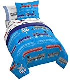 Jay Franco Trend Collector All Aboard 5 Piece Twin Bed Set - Includes Comforter & Sheet Set - Super Soft Fade Resistant Microfiber Bedding