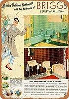 バスルームボトルネックブリキサインヴィンテージノベルティ面白い鉄の絵の具金属板