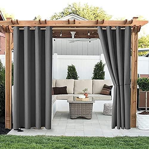 Cortinas Al Aire Libre para Patio Resistente A La Intemperie - Ojal Interior/Exterior Sun Shade Pied For Gazebo Balcony Privacy Blackout Drapes para El Dosel/Porche/Cubierta(Size:42 * 84in)
